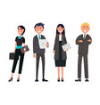 people on business meeting successful team vector image vector image