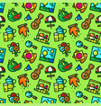 picnic seamless pattern vector image