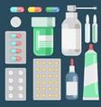Pills against diseases set Pills in your medicine