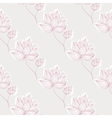 Pink Flowers On Gray vector image vector image