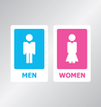 Restroom Sign vector image vector image