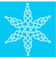 Rope decorative celtic star composition vector image vector image