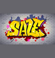 sale lettering in hip-hop graffiti style urban vector image