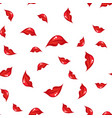 seamless pattern with lips vector image vector image