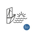 seaside view icon vector image vector image
