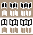 set brochure flyer symbols for prepress dtp vector image vector image
