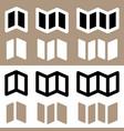 set of brochure flyer symbols for prepress dtp vector image