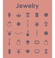 Set of jewelry simple icons vector image vector image