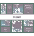 Set of wedding cards invitation thank you card vector image vector image