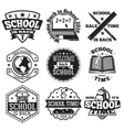 set school badges for new season sales vector image vector image