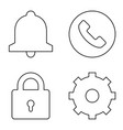 simple set thin line icons 02 vector image vector image