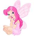 sitting fairy vector image