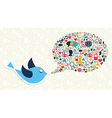 Social media marketing twitter bird concept vector image vector image