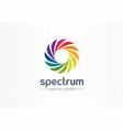 spectrum spiral rainbow creative symbol concept vector image vector image