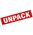 square grunge red unpack stamp vector image vector image