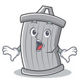 surprised trash character cartoon style vector image vector image
