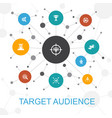 target audience presentation template cover vector image vector image