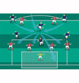 The soccer playmaker flat graphic vector image vector image
