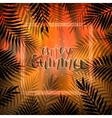 Tropical Summer Background Palm Leaves and Frame vector image vector image