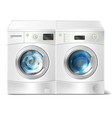 washer and dryer with laundry inside vector image