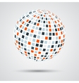 Abstract color sphere vector image