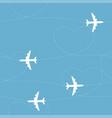 cartoon airplane path seamless pattern vector image