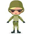 military boy vector image