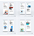 abstract business set of modern roll up vector image vector image