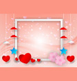 abstract with heart shape and frame for copy vector image vector image