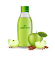 apple juice realistic product package vector image vector image
