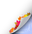 Autumn and winter background vector image vector image