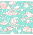 background underwater world seamless pattern vector image vector image