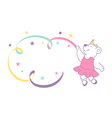 ballerina bear vector image vector image