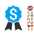 banking award icon with love bonus vector image vector image