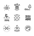 Barbeque labels or logos vector image vector image