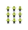 Battery Emoji Character Set vector image vector image
