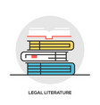 book line icon outline sign vector image vector image
