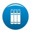 book pile icon blue vector image