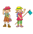 boy girl scout vector image