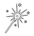 burning christmas sparkler vector image vector image