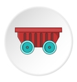 Cart on wheels icon cartoon style vector image vector image