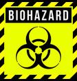 caution biohazard sign biological threat alert vector image