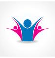 celebrate or unity icon concept vector image