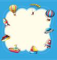 children toys on cute frame vector image