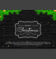 christmas poster on dark wooden texture vector image