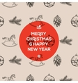 Christmas seamless hand-drawn pattern vector image vector image