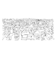 Cityscape sketch for your design vector image vector image