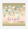 confetti brushes baby shower vector image vector image