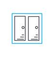 cupboard linear icon concept cupboard line vector image vector image