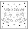 cute lets color halloween bats vector image vector image